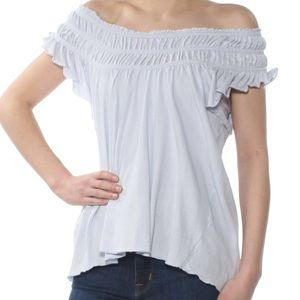 NWOT We The Free Ruffled Scoop Neck T-Shirt L